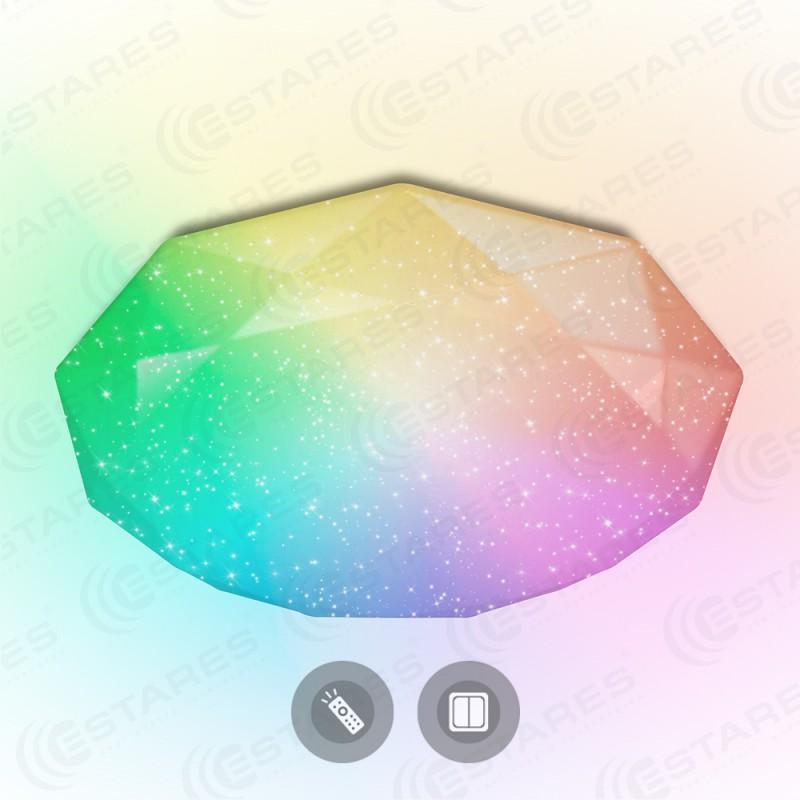 Потолочный светодиодный светильник Maysun ALMAZ 25W RGB R-345-SHINY/WHITE-220V-IP44 / 2019